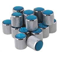 Yibuy 80x Silver Domed Volume Tone Control Metal Knob Top Electric Guitar
