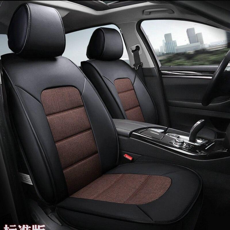 Couverture de siège de voiture en cuir de lin couvre pour sièges de voiture pour bmw x1 X6 g30 mercedes AUDI A6L mazda cx 5 kia K2 K3 K4 K5 pajero sport