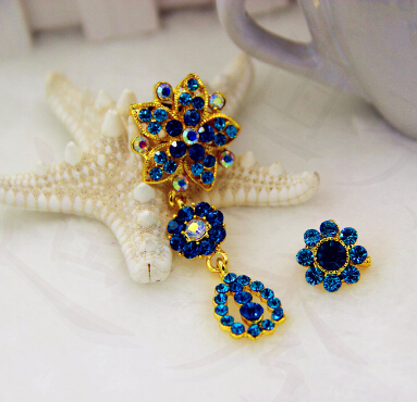 scarf brooch set hijab fashion khaleeji safety jewelry khaleeji set pins mix colors 12set/lot mix colors free ship