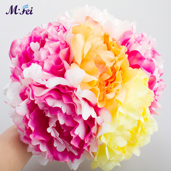 100pcs wholesale Artificial flower full open peony head wedding valentine's day birthday pary home  DIY flower decor accessories