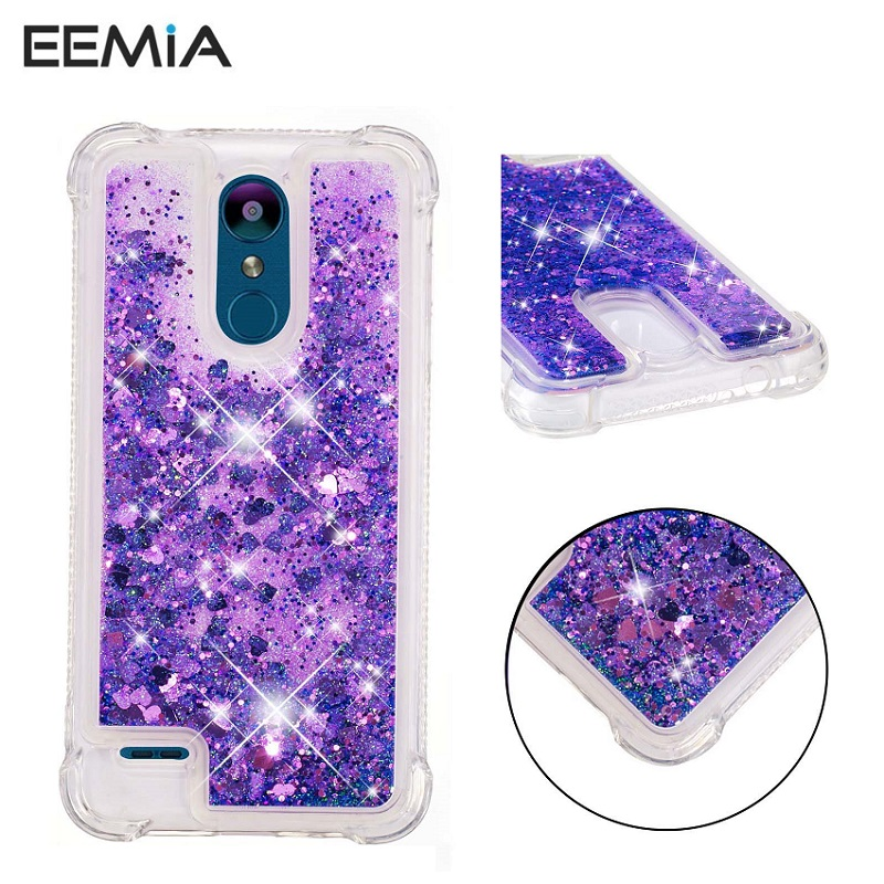 Strict Glitter Liquid Sand Cover For Lg K8 2018 Case Tpu Phone Cases For Lg Stylo 4/q Stylus/g7/g7 Thinq Anti-knock Hard Case Eemia Phone Bags & Cases