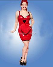2016 new design Sexo Products Sexy Lingerie Women Latex red Mini dress Catsuit cute maid Clubwear Costumes Fetish zentai Uniform