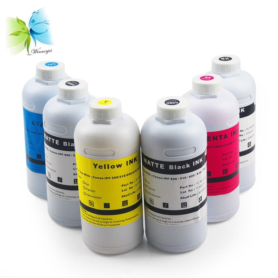 Winnerjet 1000 мл пигмент на водной основе/краситель чернила для канона 500 510 600 610 700 710 принтер + пустой набор чернил для заправки картриджа