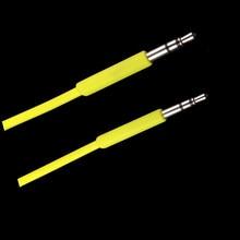 Cable auxiliar de 3,5mm para altavoz, amplificador de DVD y TV, Cable trenzado macho a macho, ultracorto, 3,5mm