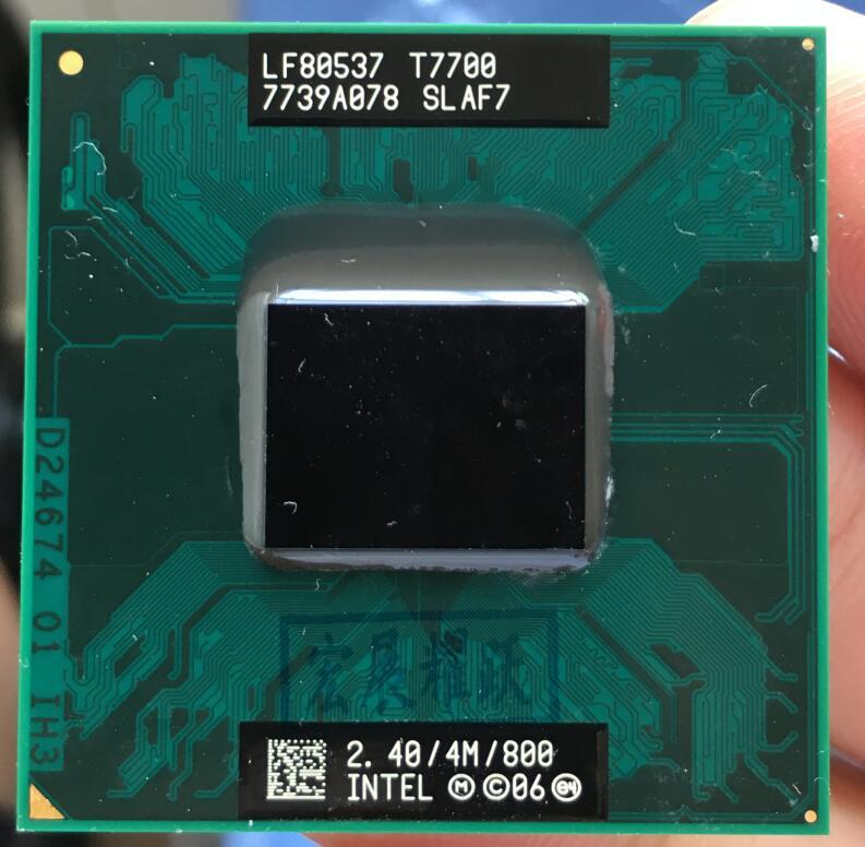 Intel Core 2 Duo T7700 notebook CPU SLAF7 G0 procesador portátil PGA 478 cpu 100% trabajando correctamente