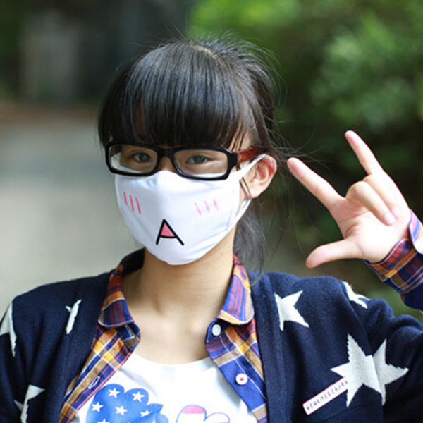 5Pcs Kawaii Anti Dust mask Kpop Cotton Mouth Mask Cute Anime Cartoon Mouth Muffle Face Mask Emotiction Masque Kpop masks