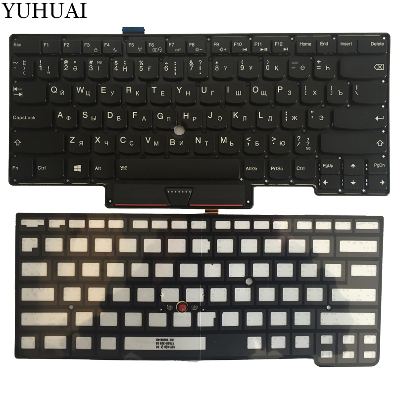 NEW Backlit Russian/Kazakhstan laptop keyboard for Thinkpad X1C 2013 X1 Carbon MT 3443 3444 3446 3448 3460 3462 3463 KZ/RU new laptop keyboard for ibm thinkpad x240 x240s x240i x250 0c44043 04x0238 ru russian layout