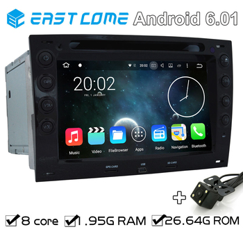 8 Cores Octa Core Pure Android 6.01 Car DVD Player For Renault Megane 2003 2004 2005 2006 2007 2008 2009 2010 With Backup Camera image