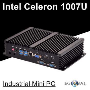 Fanless Industiral Mini PC Linux Windows XP Aluminum Rugged Computer Celeron 1007U 1.5GHz Dual Core 1*Lans 2*RS232 COM HDMI+VGA - DISCOUNT ITEM  33% OFF All Category