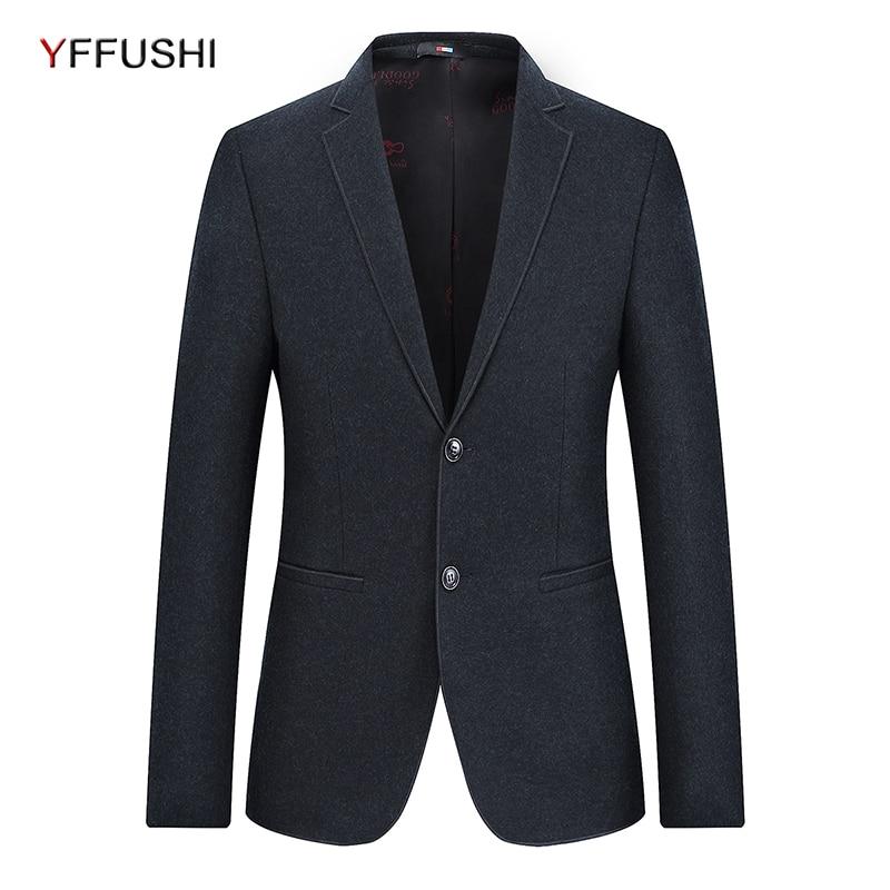 YFFUSHI 2018 New Wool Men Suit Jacket Classic Retro Gentleman Style Men Business Blazer Slim Fit Wedding Coat for Male