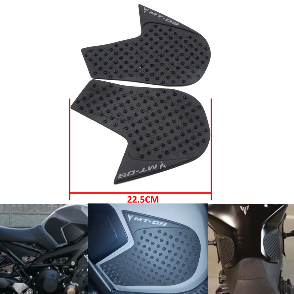Knight For Yamaha MT-09 MT09 MT 09 2014 2015 Protector Anti slip Tank Pad Sticker Gas Knee Grip Traction Side Pad 3M Decal for yamaha mt 07 mt 07 fz07 mt07 2014 2015 2016 accessories coolant recovery tank shielding cover high quality cnc aluminum
