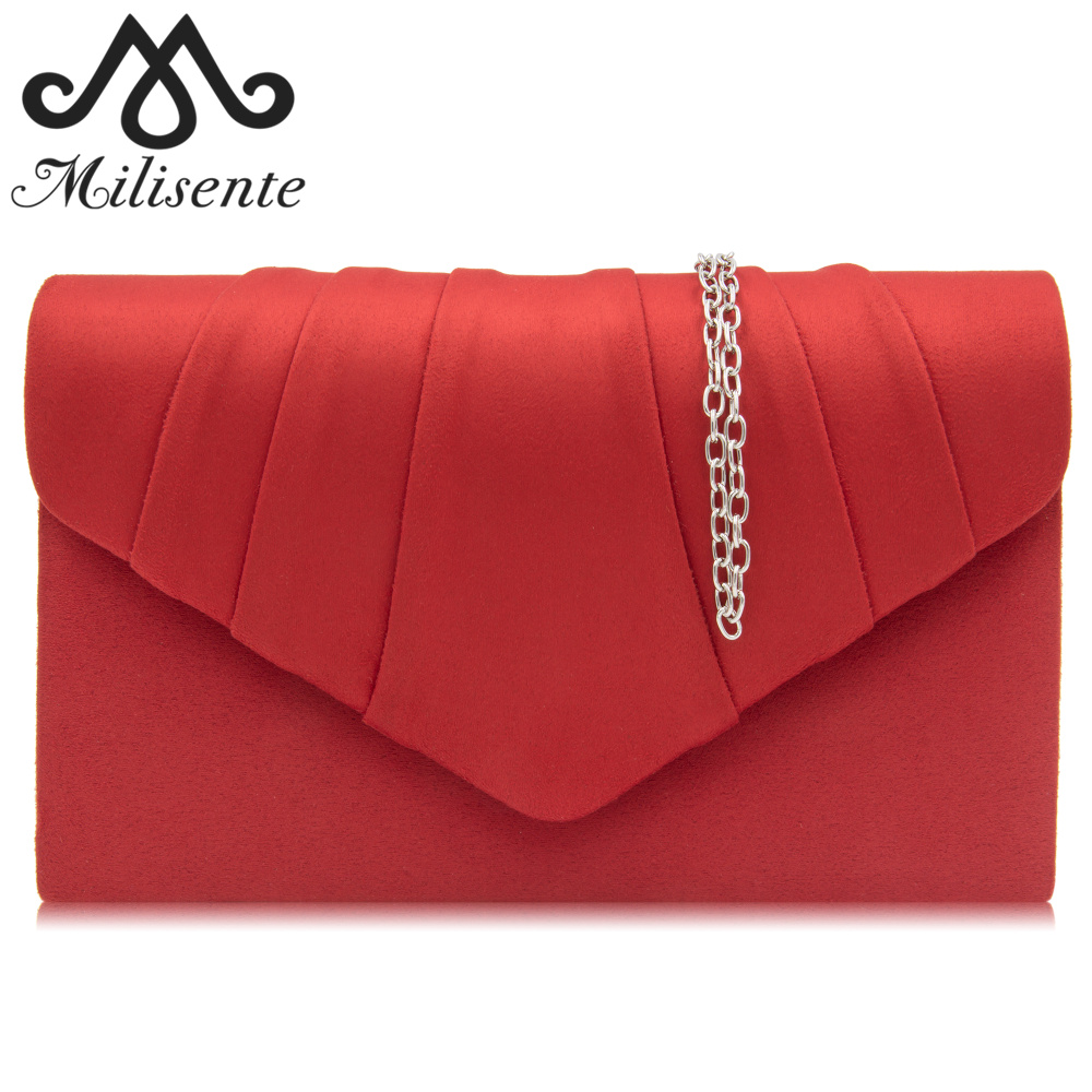 Milisente Female Evening Clutch Envelope Bags Wedding Clutches Ladies Party Bag Women Purse women gold clutch evening party bag chain ladies clutches bags ladies evening shoulder bag wedding female crystal clutch purse