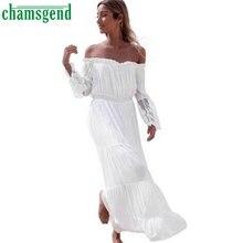 CHAMSGEND Good Deal 2017 Style Women Sexy Strapless Summer Long Dress Beach Dresses _U00442