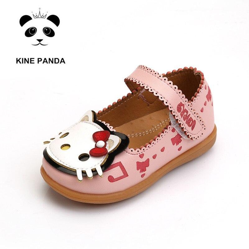6868dba1b0048c KÜHE PANDA Hallo Kitty Kleine Mädchen Schuhe Baby Mädchen Schuhe  Kindergarten Kinder Schuhe für Mädchen Prinzessin Wohnungen 1 2 3 4 5 6  jahre Alt in KÜHE ...