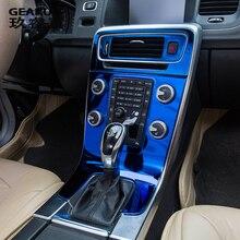 Автомобильный Стайлинг внутренняя отделка кондиционера CD панель управления декоративные наклейки Чехлы для volvo S60 v60 XC60 авто аксессуары