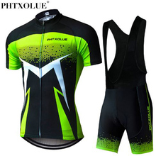 Phtxolue 2018 Summer Short Sleeve Men Cycling Clothing Breathable Bike Jerseys Set Mountain Bicycle Wear Maillot Ropa Ciclismo