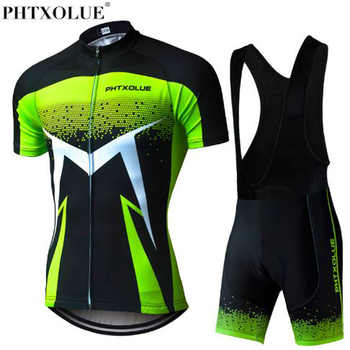 Phtxolue 2018 Summer Short Sleeve Men Cycling Clothing Breathable Bike Jerseys Set Mountain Bicycle Wear Maillot Ropa Ciclismo - DISCOUNT ITEM  40% OFF Sports & Entertainment