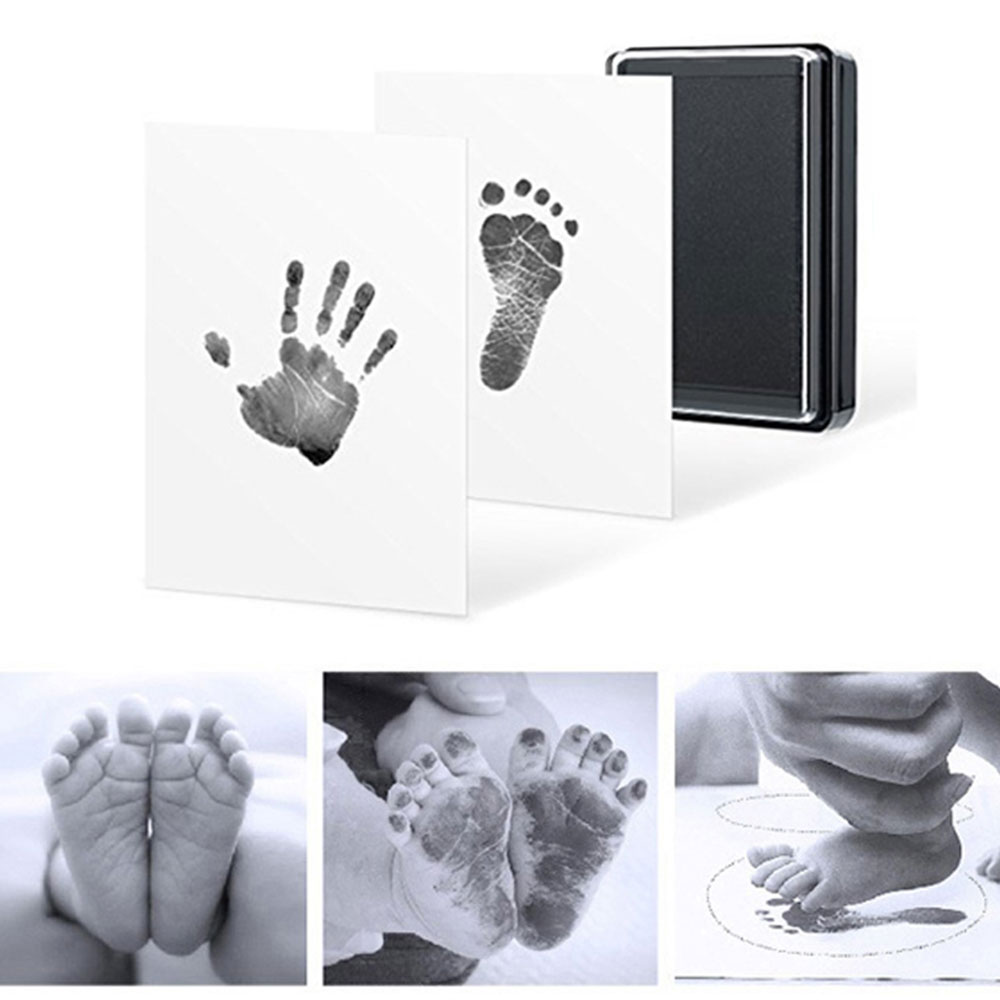 Newborn Black Creative Baby Handprint Footprint Souvenirs Safe Non-Toxic Imprint Kit Pad Photo DIY Infant Hand Foot Inkpad Gift