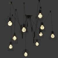 Led E27 Loft Iron Spider Led Lamp Led Licht Hanglamp Voor Eetkamer Foyer Bar