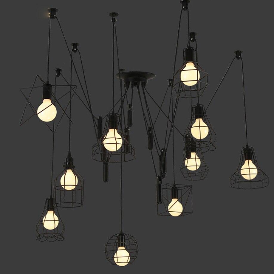 led e27 Loft Iron Spider LED Lamp LED Light.Pendant Lights.Pendant Lamp.Pendant light For Dinning Room Foyer Barled e27 Loft Iron Spider LED Lamp LED Light.Pendant Lights.Pendant Lamp.Pendant light For Dinning Room Foyer Bar