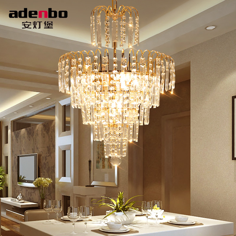 Modern Gold Lustres Led Crystal Chandelier Lighting Fixtures 40cm Home Lighting Bulbs Included