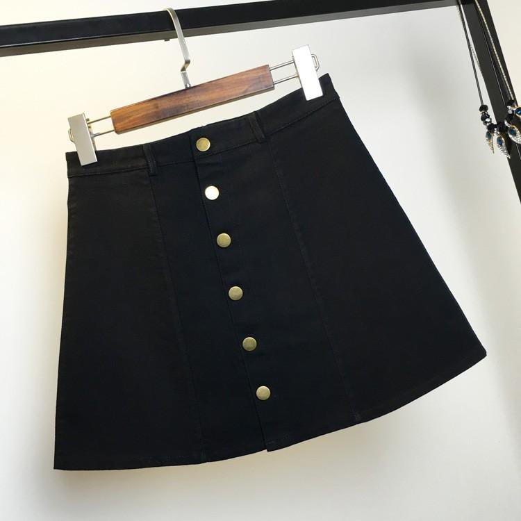 HTB1qC78MpXXXXayXFXXq6xXFXXXT - American Apparel button Denim Skirt JKP265