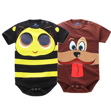 IYEAL Baby Romper Short Sleeves 2 Pieces 100% Cotton Cute Cartoon Printed Newborn Baby Girls Boys Toddler Infant Clothes 0-18M(China)