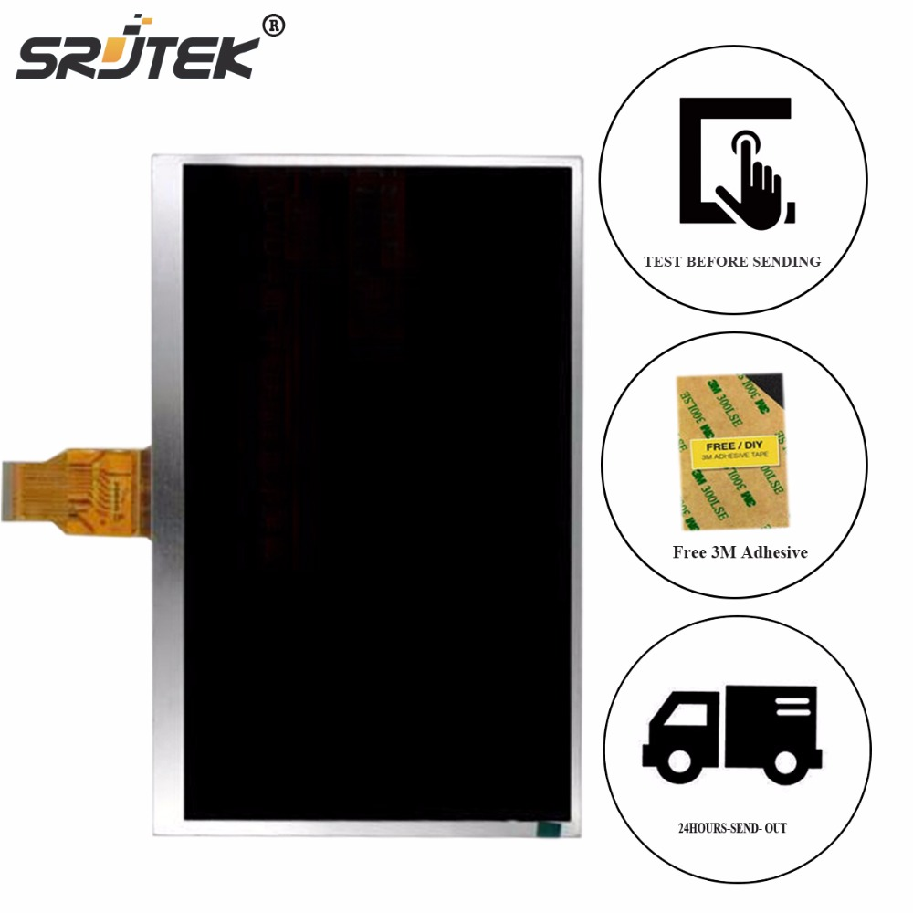 Srjtek 10.1 1024*600 For N9106 A101 MTK6582 LCD Display Panel Screen Monitor T101840B T101840B L2 internal LCD screen arcobronze arcobronze 9106