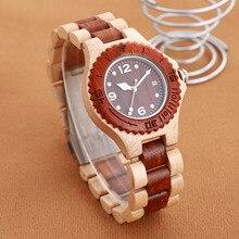 Natural Wood Watch Unisex Men Women Top Brand Luxury Lightweight Waterproof Wooden Date Wristwatch Relogio Feminino