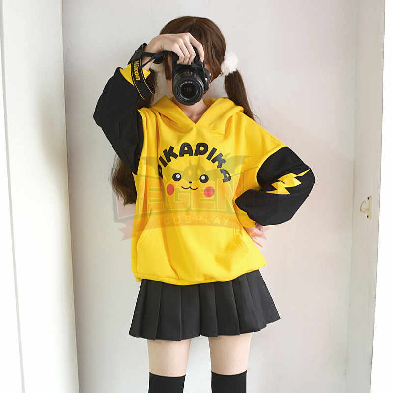 Pokemon Sonne Mond pikachu mantel jacke top gelb hoodies