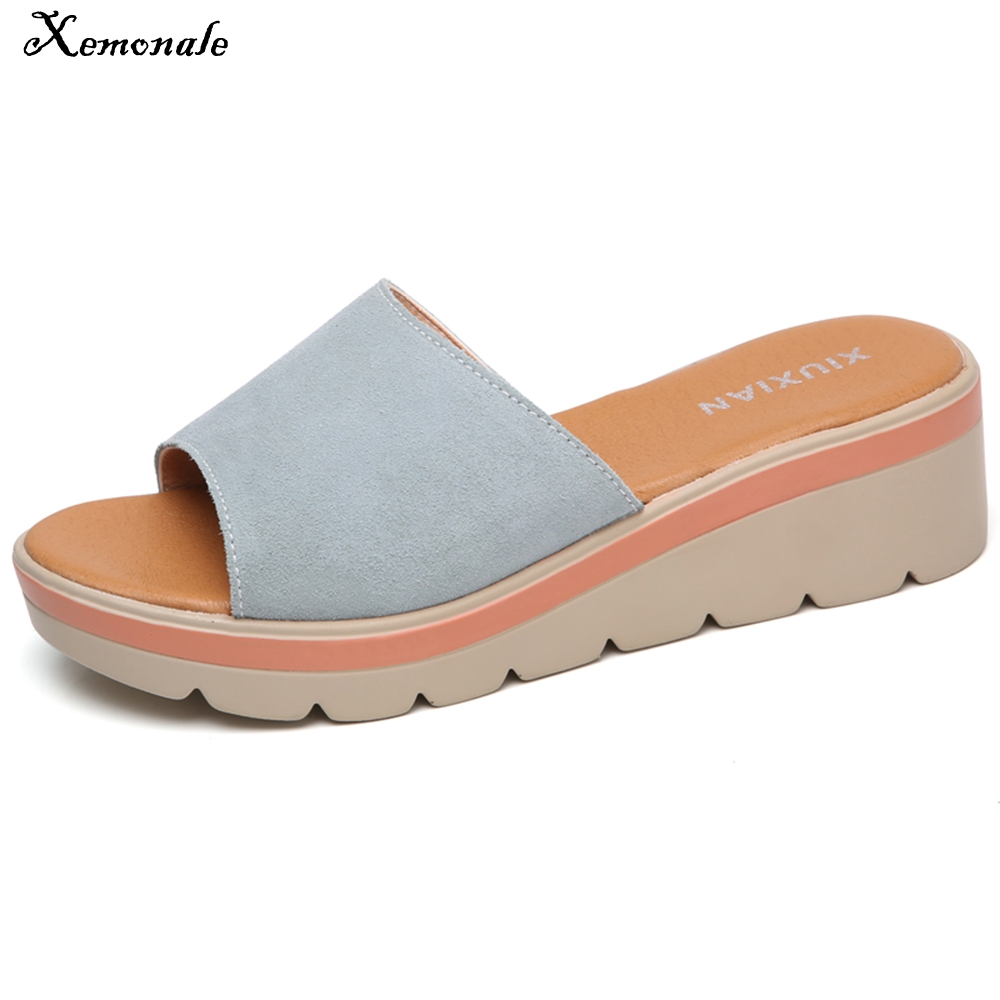 Aliexpresscom  Buy Xemonale Summer Women Slippers Suede -3692