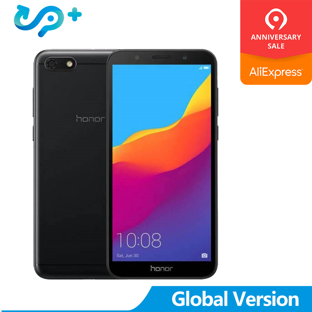 Honor 7S Version globale 13MP 5MP double caméra téléphone portable Quad Core Android 8.1 3020mAh 2GB 16GB 5.45
