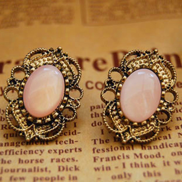 ES022  Vintage Stud Earrings Fashion Jewelry For Women Antique Gold Plated Earing 2016 NEW Arrival