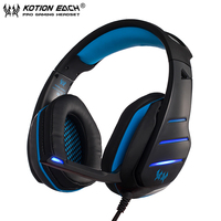 KOTION EACH Casque Best Gaming Heaset Stereo PC Gamer Headphones With Microphone Dazzle Lights Glow For