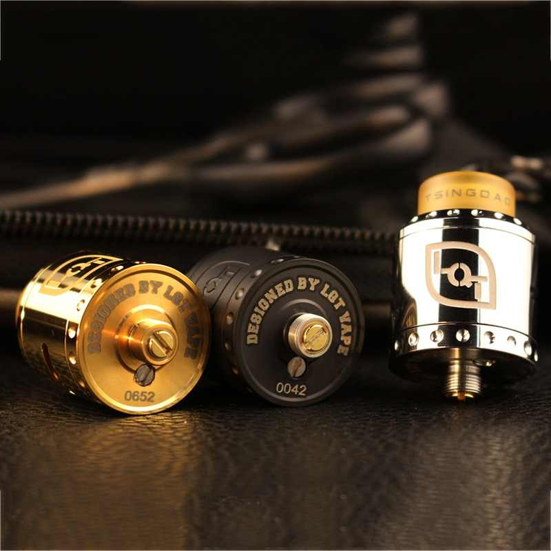 Authentic Dovpo LQT RDA Rebuildable Dripping Atomizer with BF Pin  Stainless Steel 24mm Diameter RDA atomizer