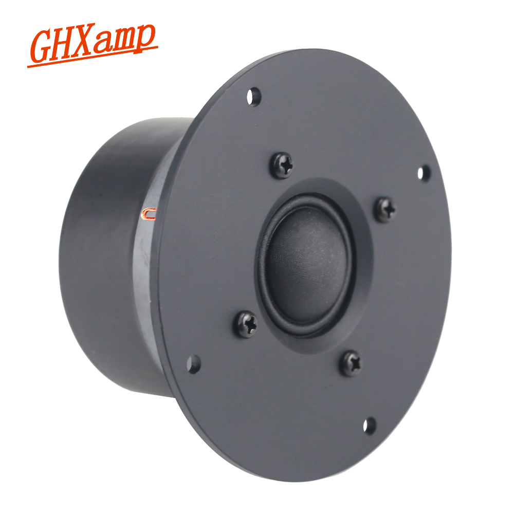 GHXAMP 4 Inch 4Ohm 25W Dome Tweeter Speaker Unit Silk Treble DIY Film Home Theater Audio Sound High Frequency HIFI 2018 1PCS ghxamp 3 inch 4ohm 30w midrange speaker car speaker mid human voice sound good loudspeaker for lg diy 2pcs