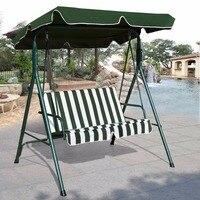 Goplus Loveseat Patio Canopy Swing Glider Hammock Cushioned Steel Frame Bench Outdoor Patio Swing Garden Furniture