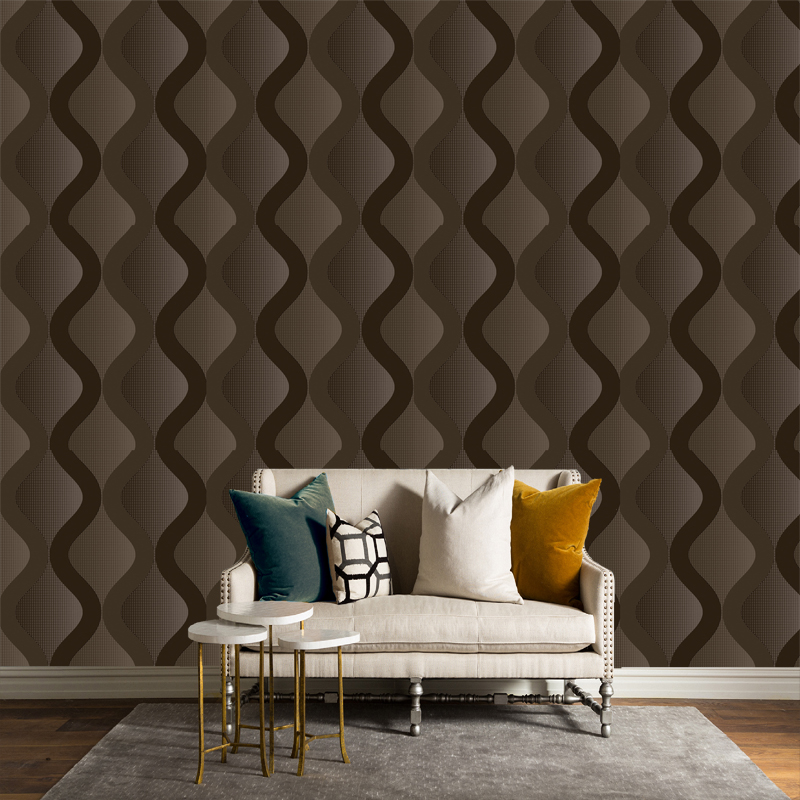 Modern 3D Embossed Washable Vinyl Wallpaper Home Decor PVC