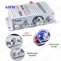 20Wx2 12V 2 Channel Audio SUPER BASS Mini Hi Fi Car Amplifier Radio MP3 Player Music