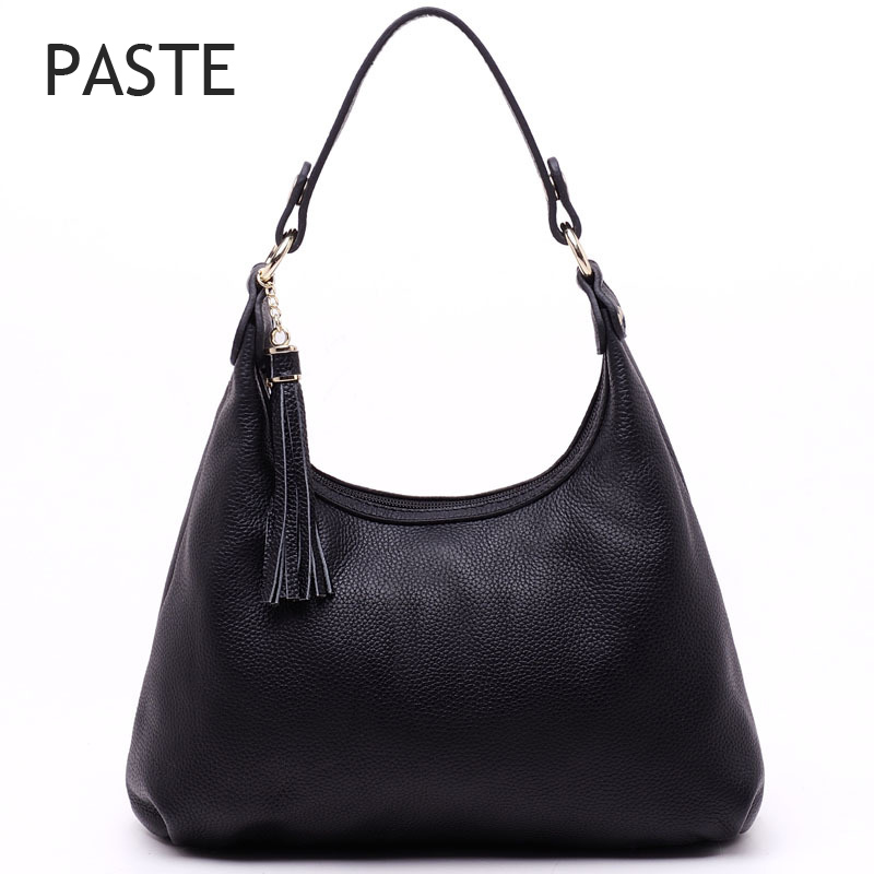 bags for women 2017 Tassel Women's Shoulder Bag High Quality 100% Genuine Leather Ladies Hand bag Classical Hobo Tote Bags high quality tassel 100