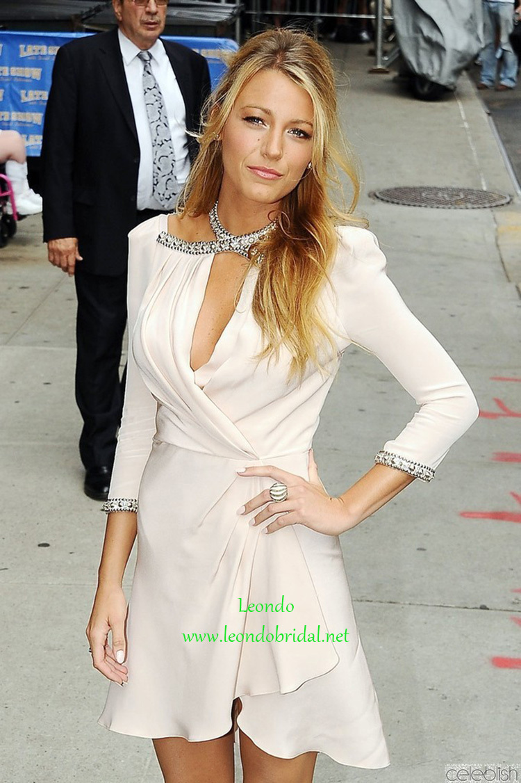 2015 Celebrity Dress Blake Lively Ivory Cutout Cocktail Dress at ...