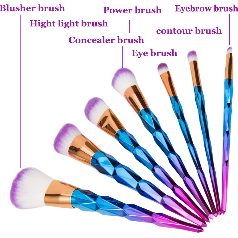 unicorn brush sets. online shop unicorn makeup brushes 10 pcs professional synthetic fiber rose gold colorfull powder eyeshadow brush kits new arrival | aliexpress sets
