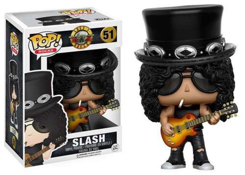 In Stock Funko pop Official Guns N Roses Rocks: Slash Vinyl Action Figure Collectible Model Toy with Original Box