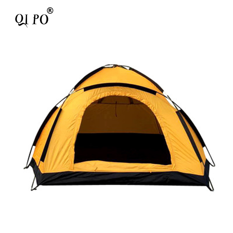 QIPO ultralight tent 2 person outdoor camping hiking summer Windproof Tent outdoor camping hiking automatic camping tent 4person double layer family tent sun shelter gazebo beach tent awning tourist tent