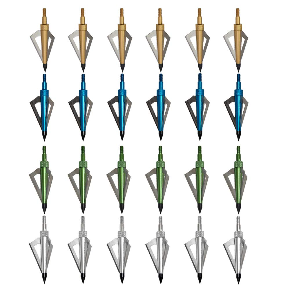 Hunting Broadheads 3 Blades Archery Broadheads 125 Grain Screw-in Arrow Heads Arrow Tips Compatible With Crossbow Compound Bow