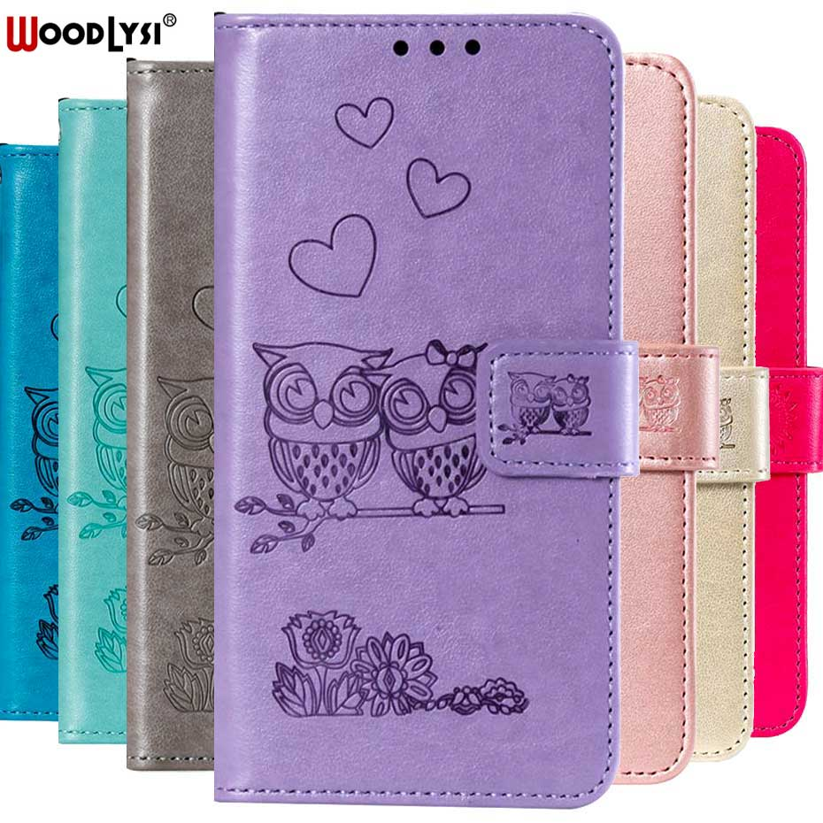 3D Owl & Heart Embossed Flip Case For LG K40 Wallet Cover Capa Case For LG K40 K 40 Luxury PU Leather Flip Case