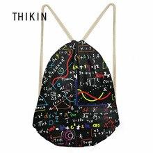 цена на THIKIN Swimming Sport Bag Gym Sack Math Formula Printed Children Backpack Boys Small Draws-tring Bag Outdoor Waterproof Bag