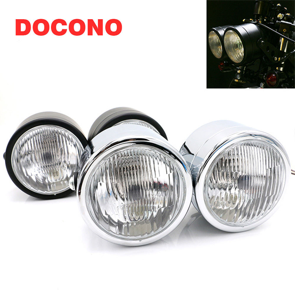 Motorcycle Headlight 4 Streetfigher Twin Round Double Round Dominator Head Lamp For V-Max Vmax V Max Vmx 1200 Cafe Racer ChromeMotorcycle Headlight 4 Streetfigher Twin Round Double Round Dominator Head Lamp For V-Max Vmax V Max Vmx 1200 Cafe Racer Chrome