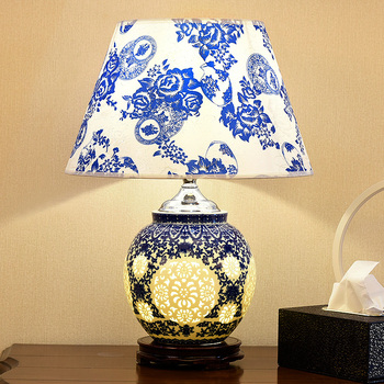 Ceramic table lamp bedroom bedside lamp living room large ...