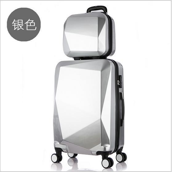 14,20, 24 дюймов твердые женщины багажа, Комплект Сумки, Счетчик поездки чемодан, spinner Багажа, ABS